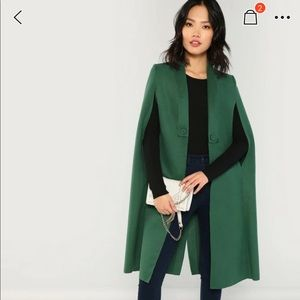 SHEIN Shawl Collar Longline Coat